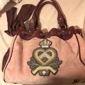 Juicy couture bag; dusty pink